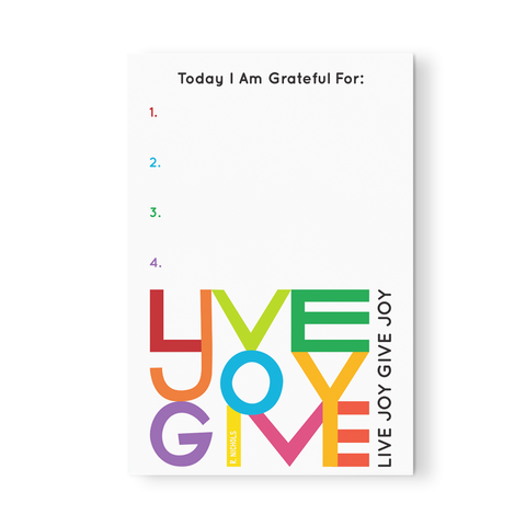 Live Joy Give Joy Gratipad