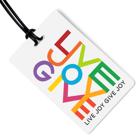 Live Joy Give Joy Luggage Tag
