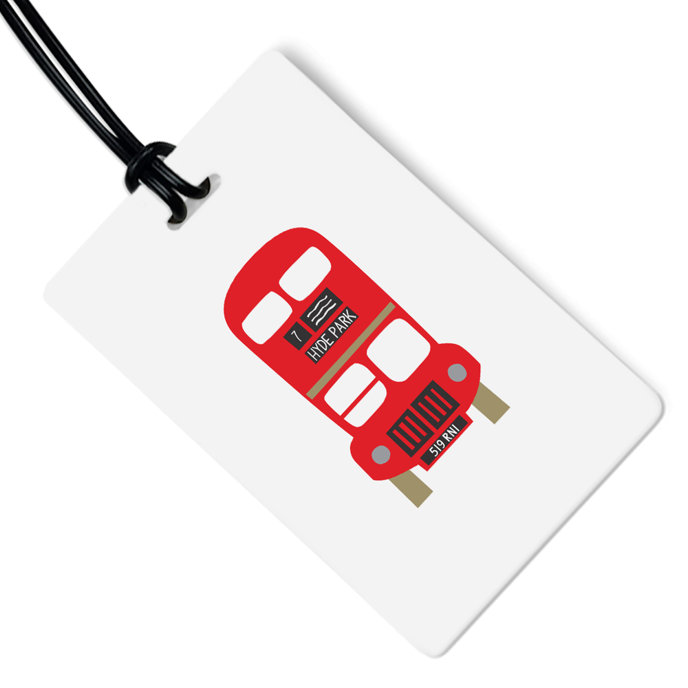 London Bus Luggage Tag