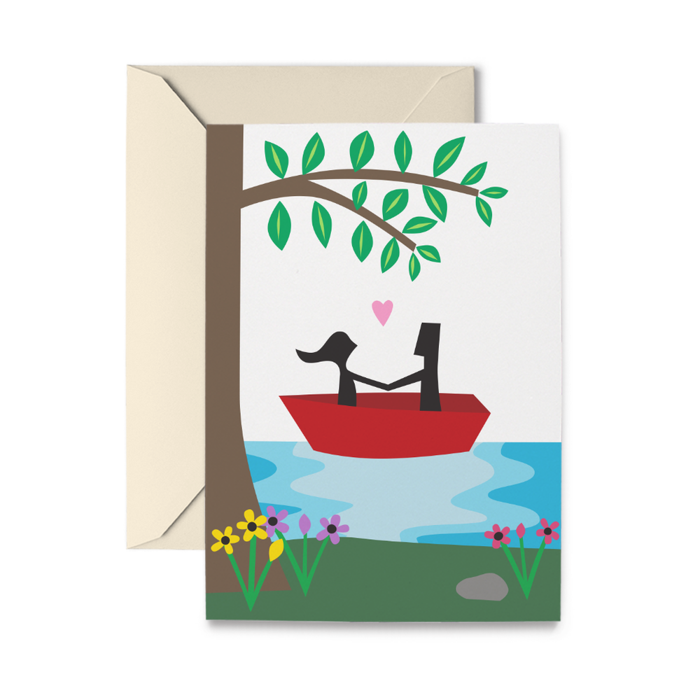 Love Lake Greeting Card