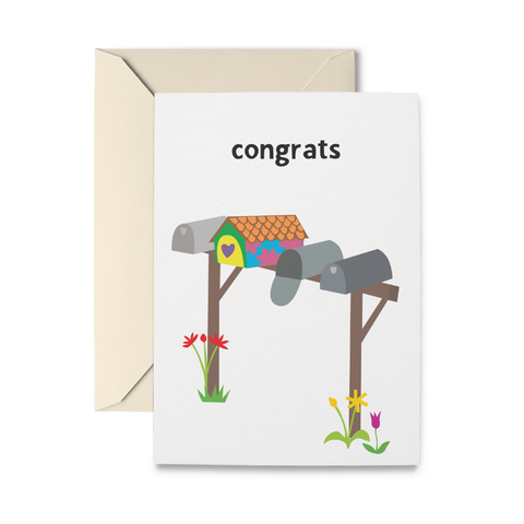 Mailboxes Greeting Card