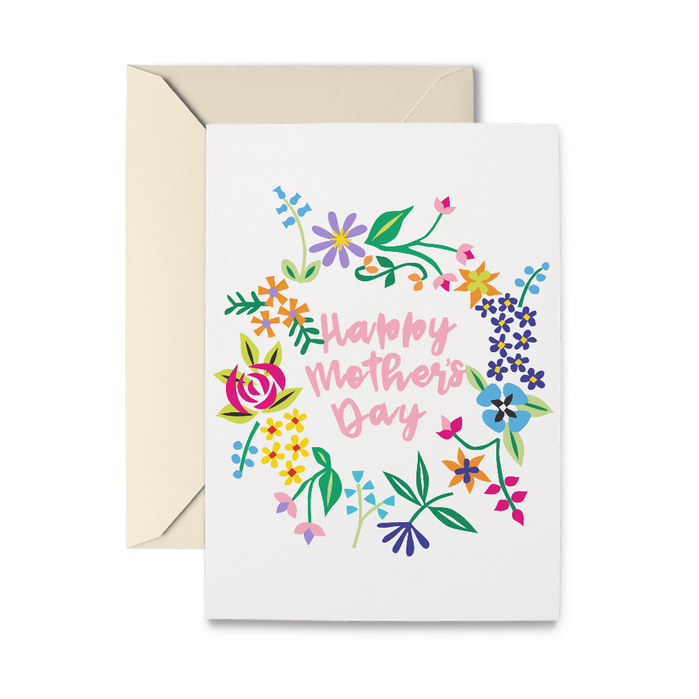 Mother's Day Wreath Greeting Card