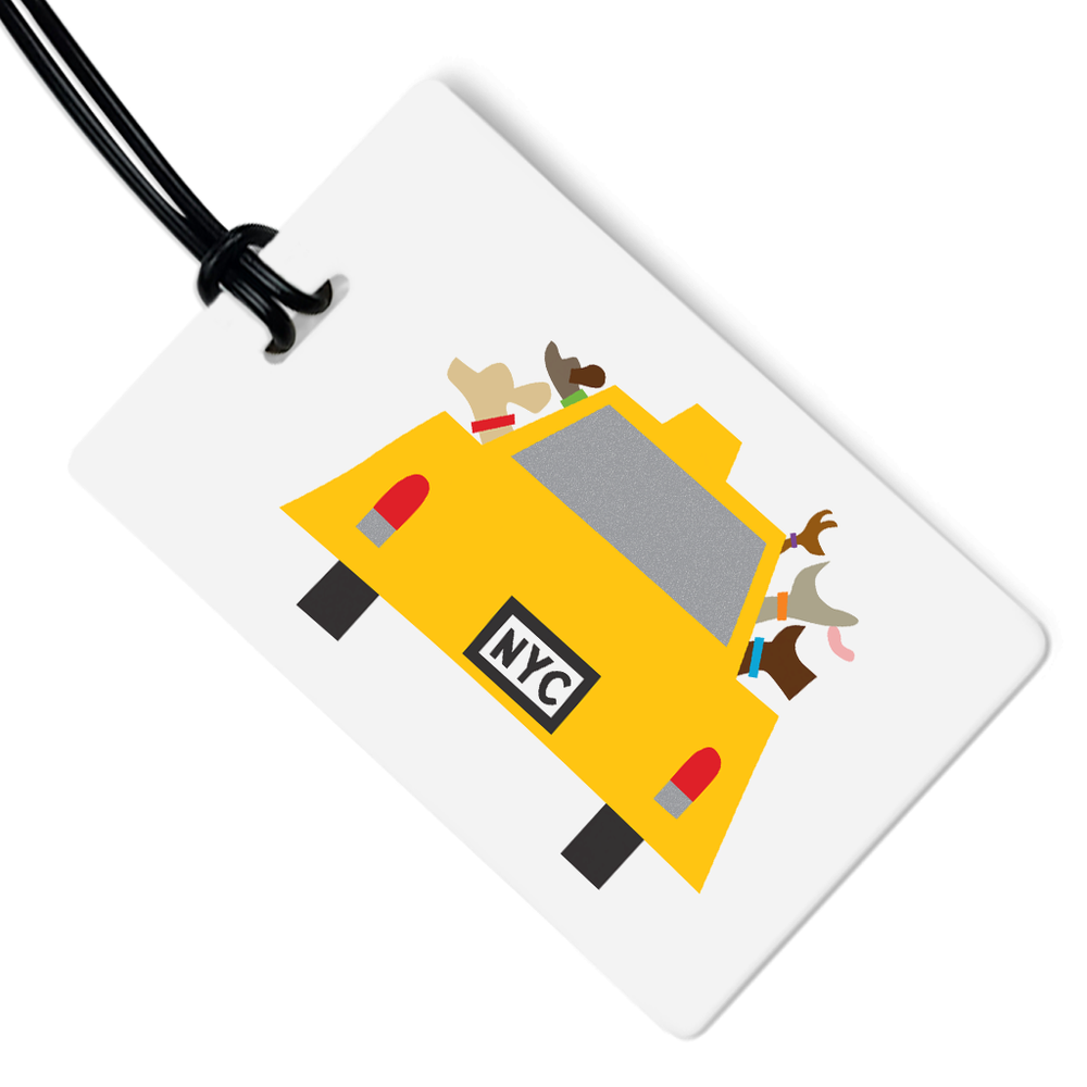 NYC Dog Taxi Luggage Tag