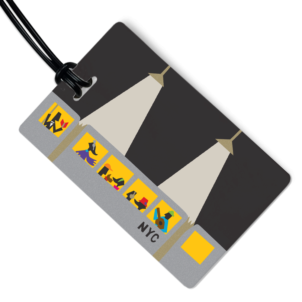 NYC Night Subway Luggage Tag