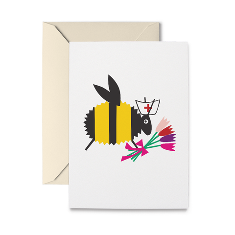 Nurse Bee Greeting Card
