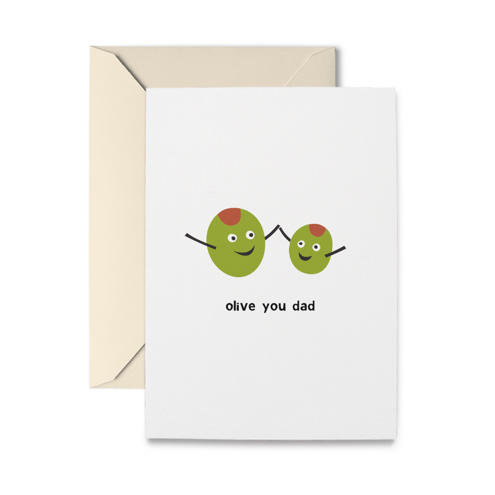 Olive Dad Greeting Card