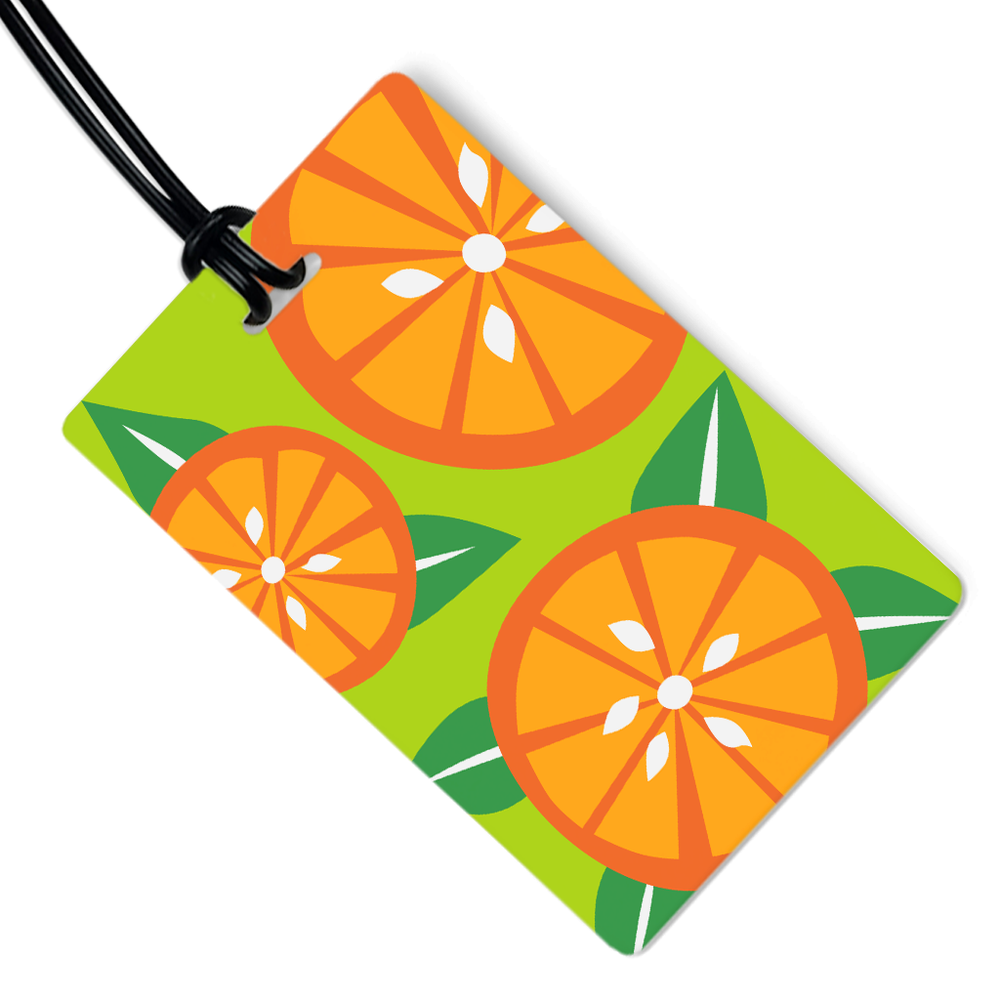 Orange Slice Luggage Tag
