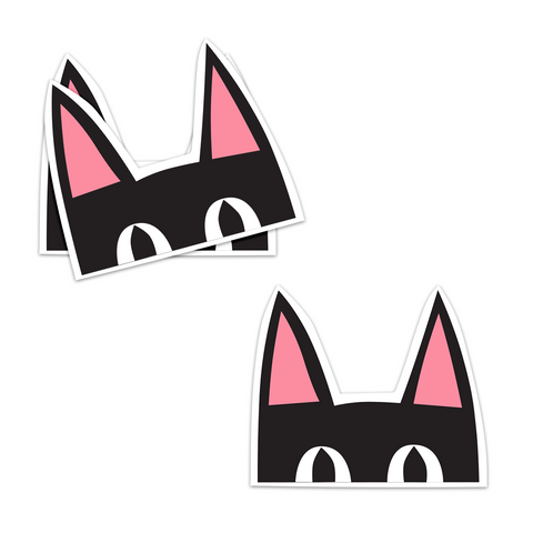 Peeking Kitty Sticker