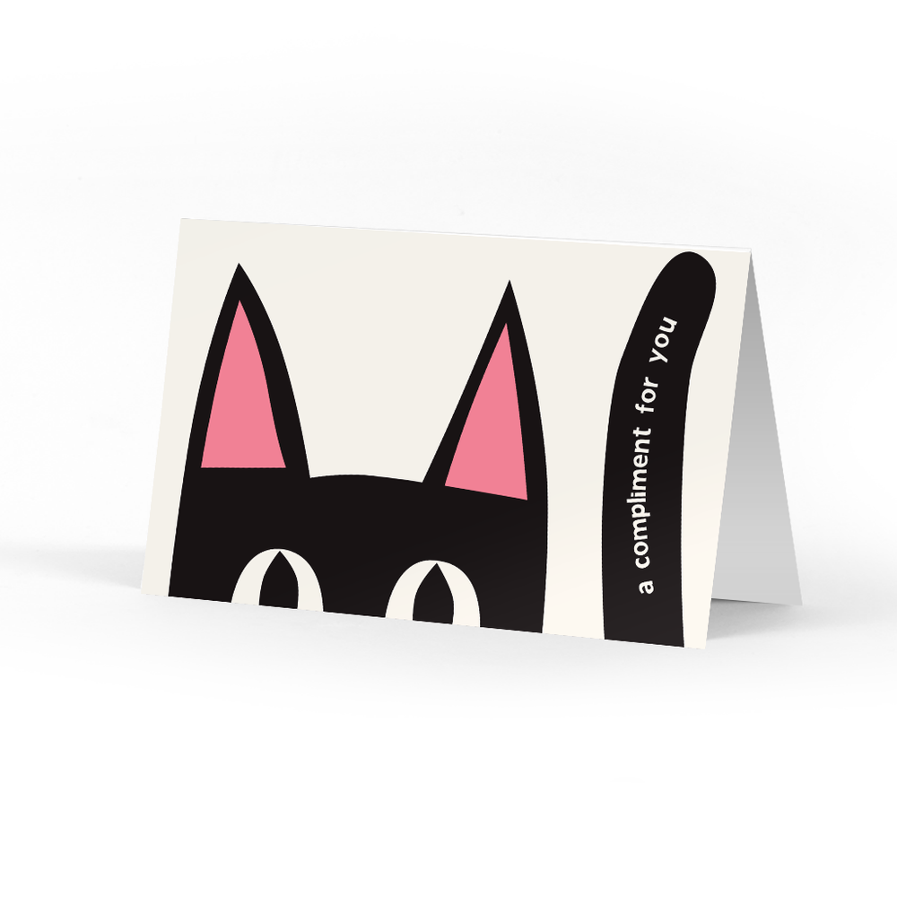 Peeking Kitty Compliment Cards