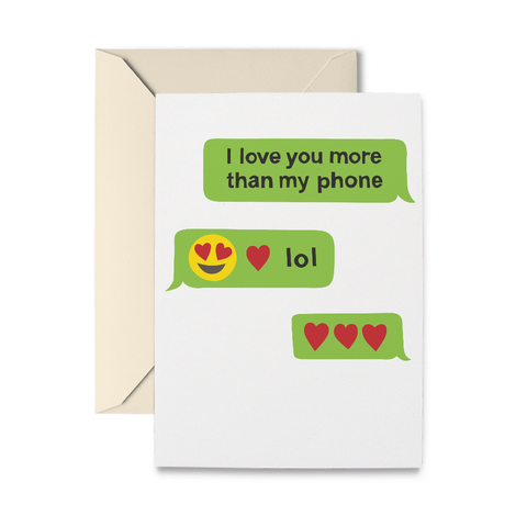 Texting Love Greeting Card