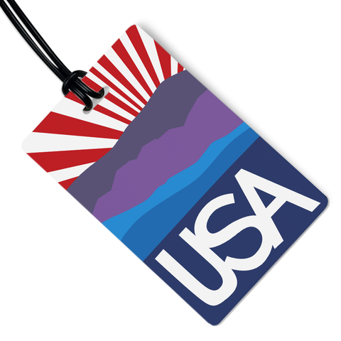 Purple Mountain Majesty Luggage Tag