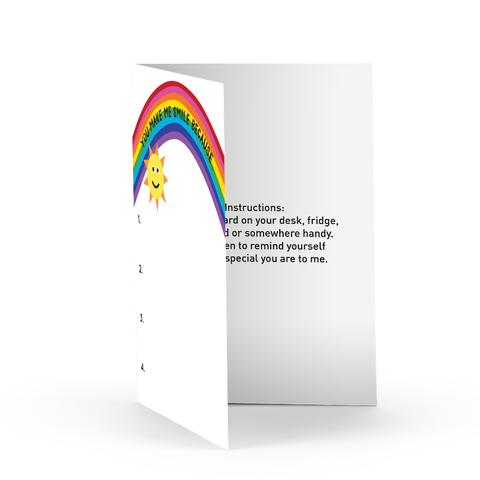 Rainbow Graticard Greeting Card