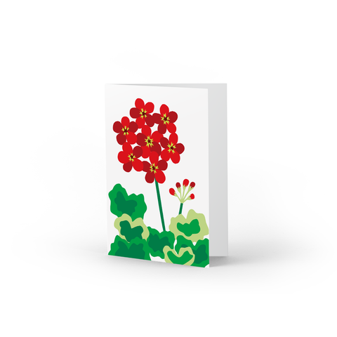 Red Geranium Note Cards