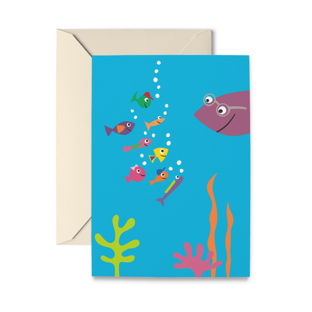 School of Fish Greeting Card