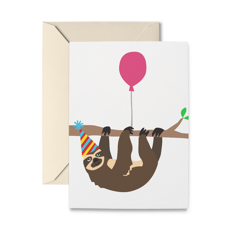 Birthday Sloth Greeting Card