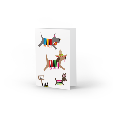 Spanish Doggies Thank You Note Cards