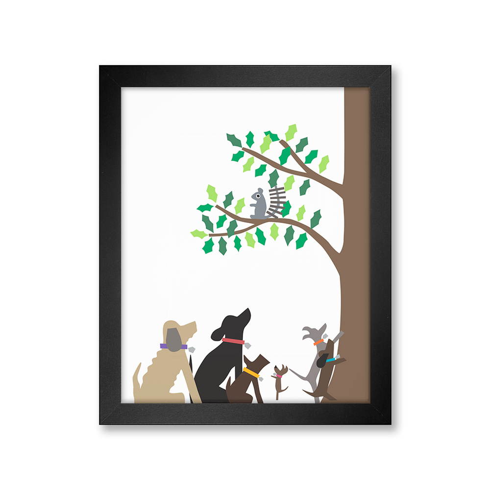 Squirrel Hunters Print