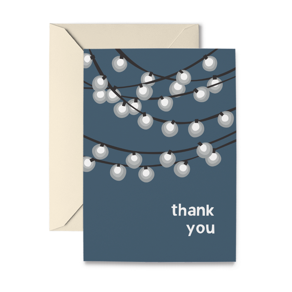 Thank You Lights Note Cards