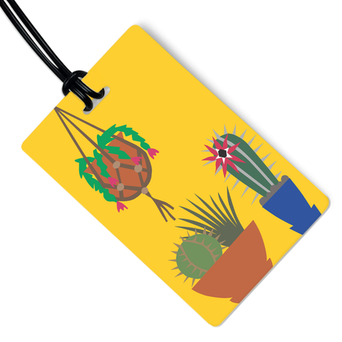 Succulents Luggage Tag