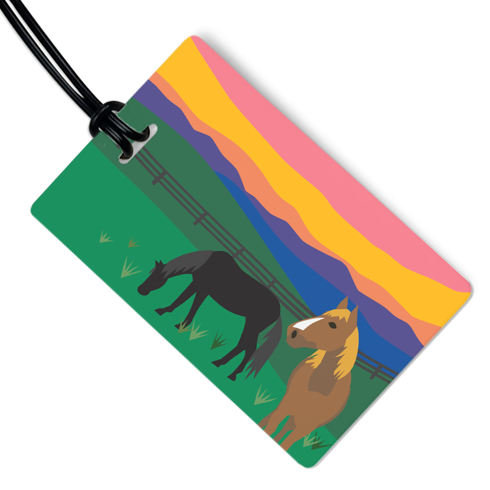 Sunrise Horses Luggage Tag