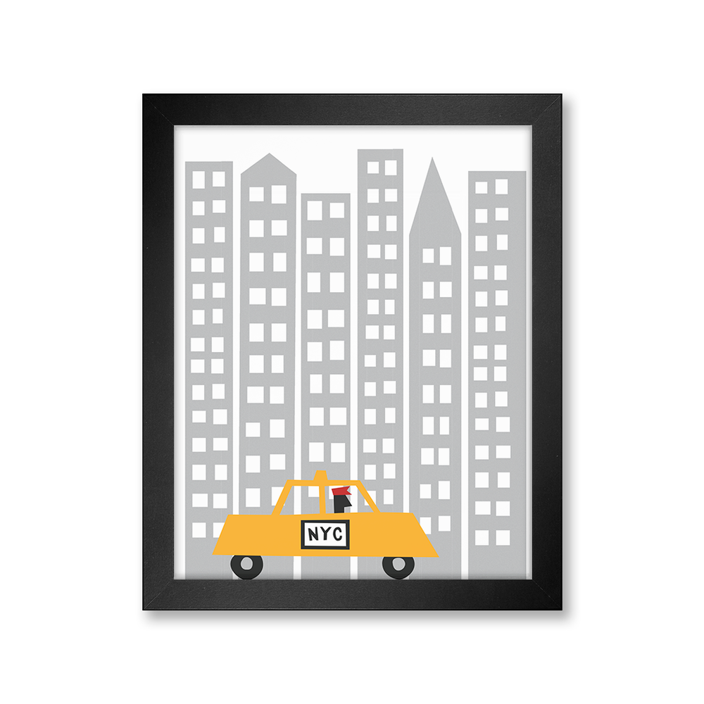 Taxi in the City Print