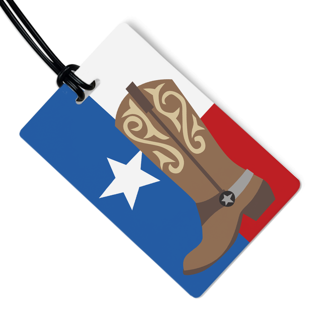 Texas Boot Luggage Tag