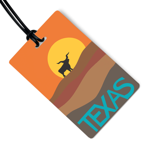 Texas Longhorn Luggage Tag