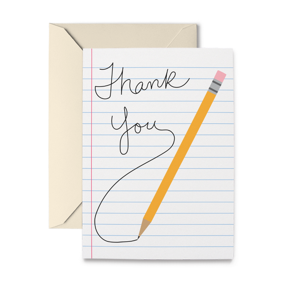 Thank You Pencil Note Cards