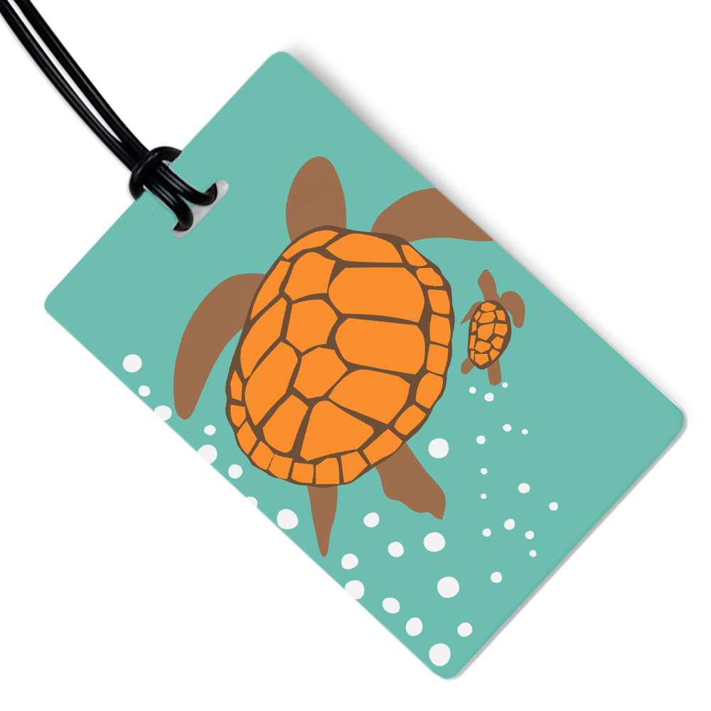 Turtle Luggage Tag
