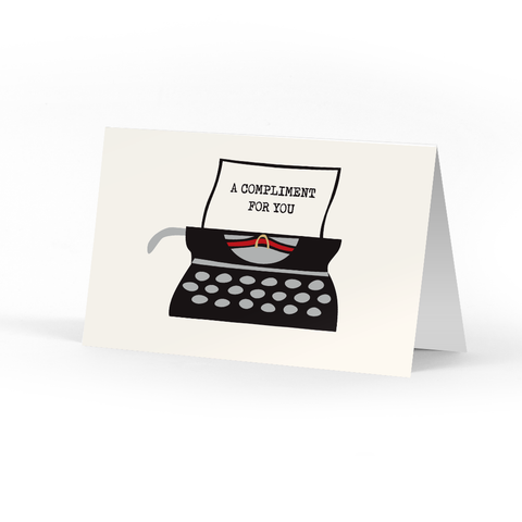 Typewriter Compliment Cards