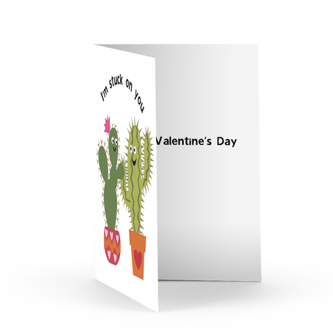 Valentine Cacti Greeting Card