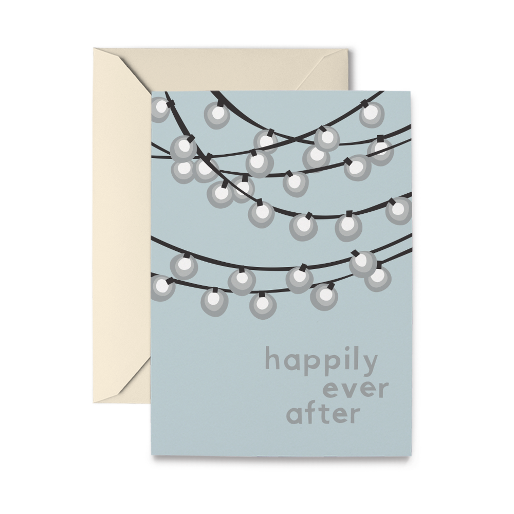 Wedding Lights Greeting Card