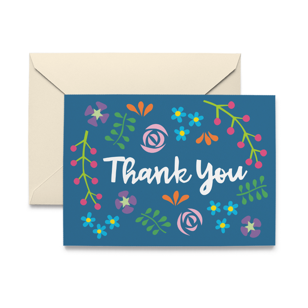 Wildflower Thank You Note Cards