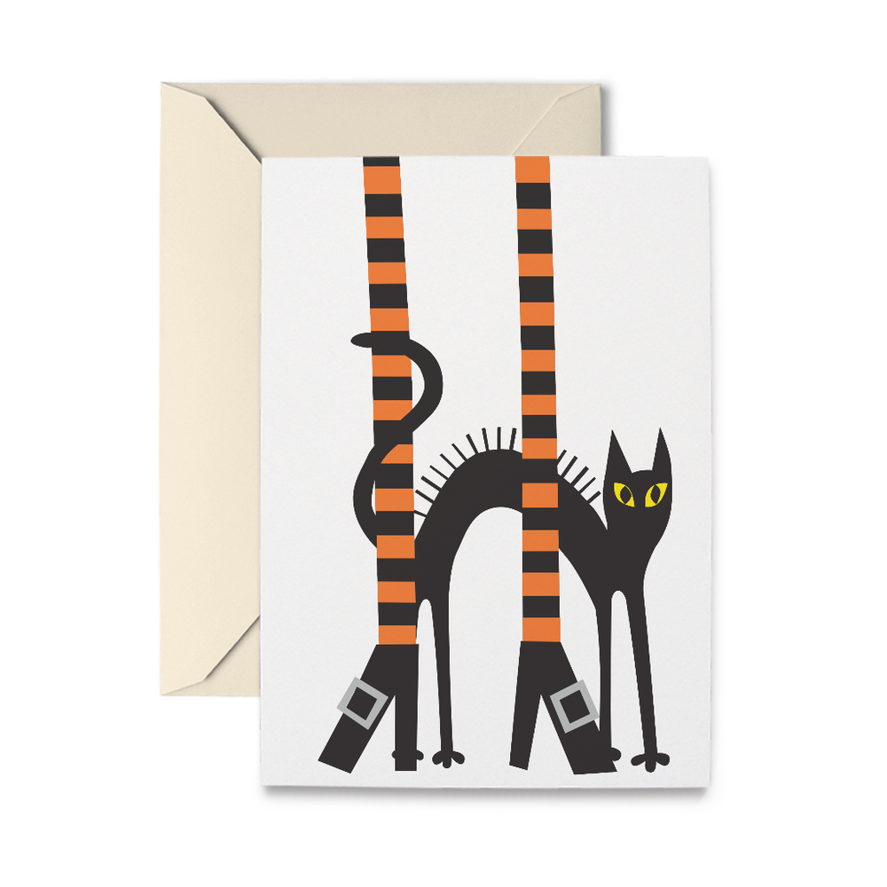 Witch Legs Greeting Card