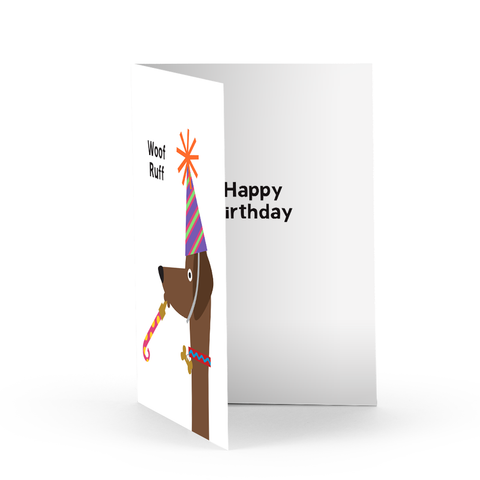 Woof Ruff Birthday Greeting Card