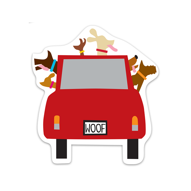 Woofmobile Sticker