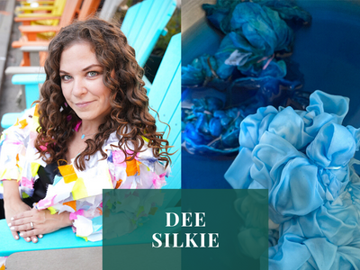 DEE SILKIE'S TIE DYE LOVE & TEXTILE ART COLAB WITH THE GOOD TEE