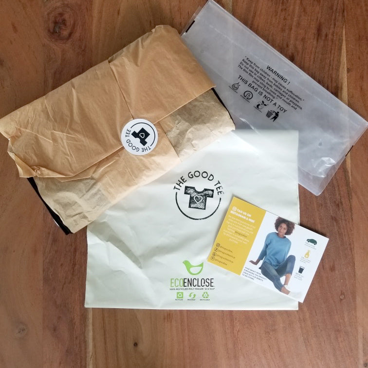 The Good Tee Recyclable Packaging