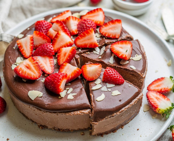 Recipe of Vegan No bake chocolate mousse cake