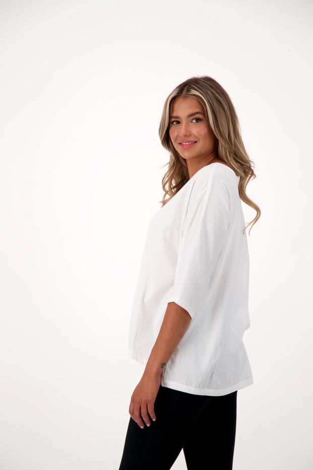 white batwing shirt