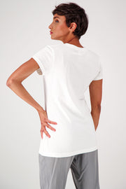slim fit white t-shirt organic cotton