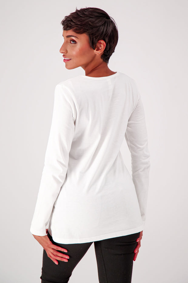 Women's Slim Fit Long Sleeve Crewneck - The Good Tee