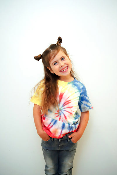 Rainbow Tie- Dye Commissioned  Tshirt By Dee Silkie - The Good Tee