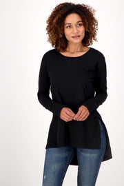 organic cotton  black tunic
