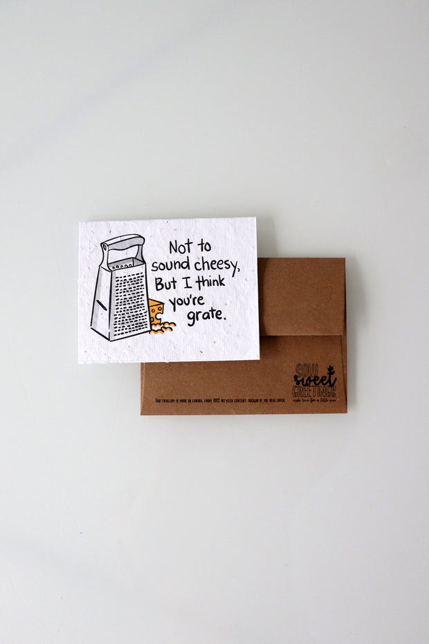 Personalized, Plantable, Punny Greeting Cards