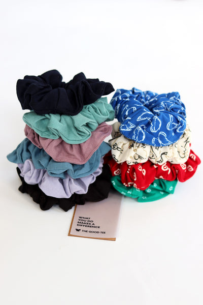 The Zero-Waste Scrunchie - The Good Tee