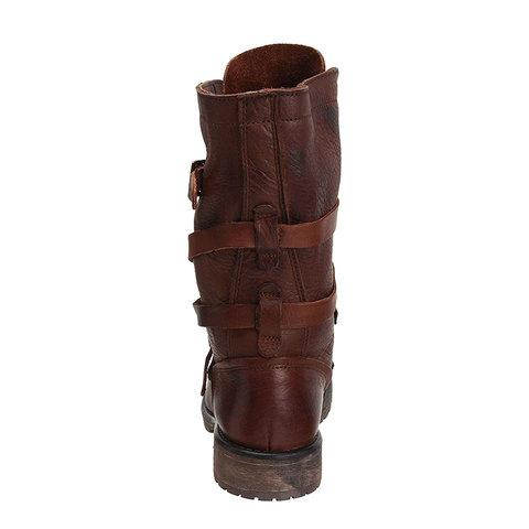 Women Vintage Riding Boots Casual Chic Buckle Boots