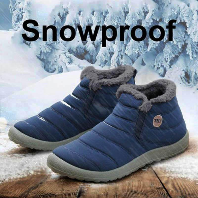 Unisex Waterproof Fur Lined Snow Boots