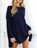 Casual Knitted Crew Neck Blouse