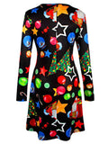 Crew Neck Women Christmas Dresses A-Line Plus Size Dresses